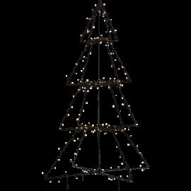 LED Āra gaismas dekors egle melna 3D 3,6W 90x125cm Foldy 807-54
