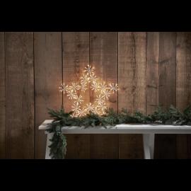 LED Āra gaismas dekors zvaigzne 60x60cm Flower star 475-14