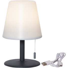 LED galda lampa uz baterijas balta 0,5W 16x26cm Gardenlight kreta 803-69
