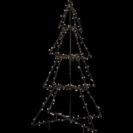 LED Āra gaismas dekors egle melna 3D 3,6W 120x170cm Foldy 807-55