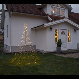 LED Āra gaismas dekors egle melns 6W 100x235cm Spiky 807-60