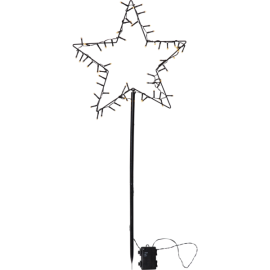 LED Āra gaismas dekors zvaigzne uz baterijām 3,6W 39x92cm Spiky 857-04