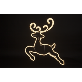 LED Āra gaismas siluets briedis balts 17,2W 63x60cm Neoled 807-40