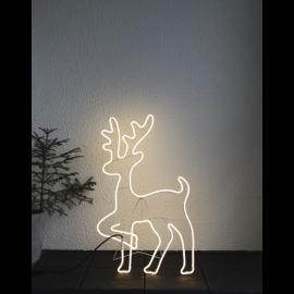 LED Āra gaismas siluets briedis balts 21,5W 48x84cm Neoled 807-41