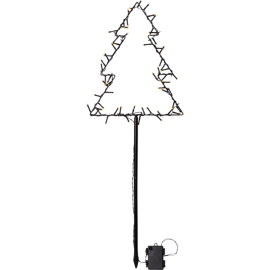 LED Āra gaismas dekors egle uz baterijām 3,6W 32x90cm Spiky 857-05