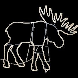 LED Ziemassvētku āra gaismas siluets alnis 23,6W 110x100cm Tapesil 807-61