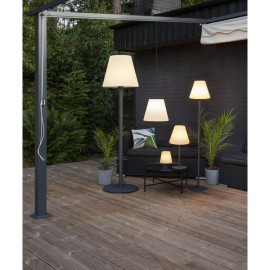 Grīdas lampa balta 1xE27 50x187cm Gardenlight kreta 804-00