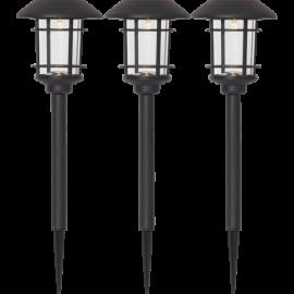LED Āra gaismekļi uz saules baterijām 3 gab. 0,03W 12,5x34cm Fride 481-39