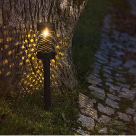 LED āra gaismeklis uz saules baterijām melns 0,06W 8,5x46cm Blace 480-97