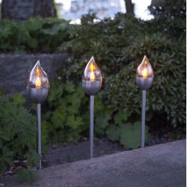 LED Āra gaismekļi uz saules baterijām 3 gab. 0,06W 6x40cm Olympus 481-54