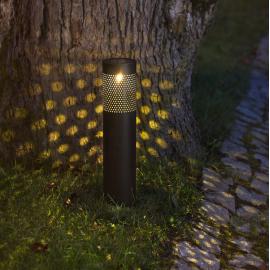 LED āra gaismeklis uz saules baterijām melns 0,06W 8,5x39cm Blace 480-98