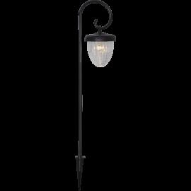 LED Āra gaismeklis uz saules baterijām melns 0,03W 13x51cm Bellota 482-31