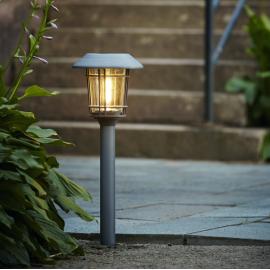 LED āra gaismeklis uz saules baterijām pelēks 0,3W 21x60cm Filip 480-92