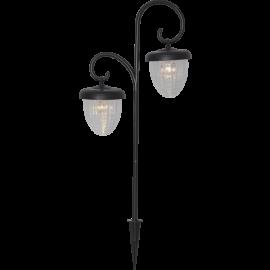 LED Āra gaismeklis uz saules baterijām melns 0,03W 28x51cm Bellota 482-32