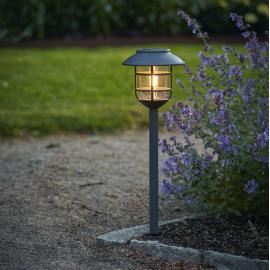 LED āra gaismeklis uz saules baterijām pelēks 0,06W 17x50cm Filippa 481-40