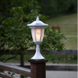 LED āra gaismeklis uz saules baterijām balts 0,18W 15,5x63cm Flame 480-08