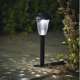 LED āra gaismekļi uz saules baterijām melni 48gab. 0,06W 10x90cm Leuca 481-99-43