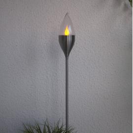 LED āra gaismeklis uz saules baterijām 0,06W 8,5x115cm Olympos 480-01