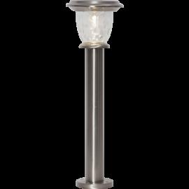 LED āra gaismeklis uz saules baterijām sudraba 0,03W 19x61cm Pireus 481-19