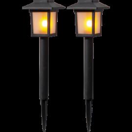 Solar Bollard 2 Pack Flame Mini 481-09