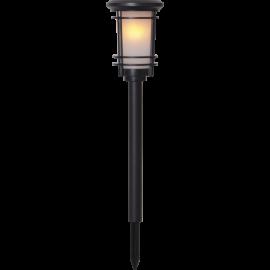 LED Āra gaismeklis uz saules baterijām melns 0,18W 13x53cm Flame 481-04