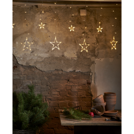 Lampiņu virtene zvaigznes caurspīdīga 130 LED 200x82cm Cortina 475-10