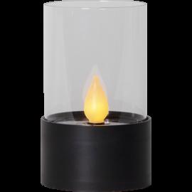 LED Svece uz saules baterijām melna 0,03W 8,5x14cm Puloun 481-53