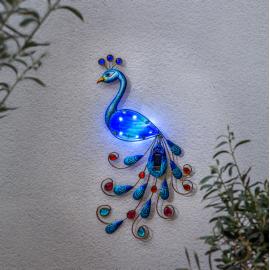 LED Āra gaismas dekors uz saules baterijām zils 0,4W 27x52cm Peacock 482-21