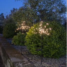 LED Āra gaismas dekori uz saules baterijām 2 gab. 1W 15x85cm Firework 481-91