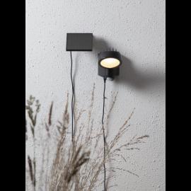 LED āra gaismeklis uz saules baterijām melns 0,5W 9,5x19cm Powerspot 481-66