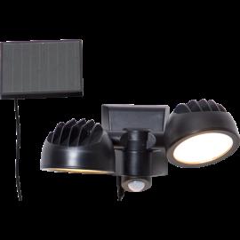 LED āra gaismeklis uz saules baterijām melns 0,6W 21x17cm Powerspot 481-67