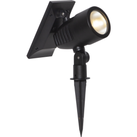 LED dārza prožektors uz saules baterijām melns 0,06W 9,5x21cm Powerspot 481-68