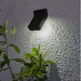 LED āra gaismeklis uz saules baterijām melns 0,24W 8x5,5cm Wally 480-78