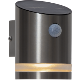 LED Āra gaismeklis uz saules baterijām sudraba 0,5W 8,5x12,5cm Venicini 481-98