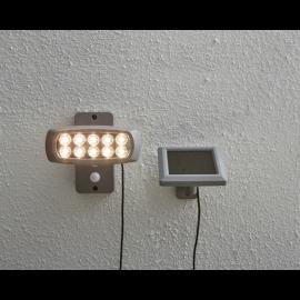 LED Āra gaismeklis uz saules baterijām pelēks 0,6W 15,5x15cm Powerspot 479-97