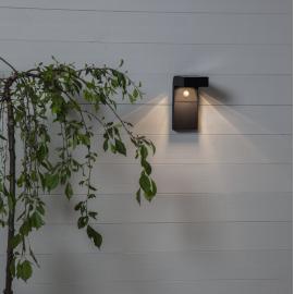 LED Āra gaismeklis uz saules baterijām melns 3W 9x20cm Vici 481-12