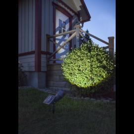 LED Dārza prožektors uz saules baterijām melns 0,06W 21x15cm Powerspot 480-62