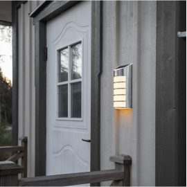 LED Āra gaismeklis uz saules baterijām sudraba 0,06W 16x26,5cm Wally 481-74