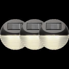 LED Āra gaismekļi uz saules baterijām 3gab. 0,13W 11x11cm Fency 479-01