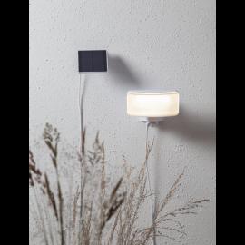 LED āra gaismeklis uz saules baterijām balts 18x16cm 0,9W Powerspot 481-64