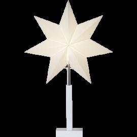 Papīra zvaigzne uz statīva balta E14 43x68cm Frozen 232-26