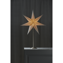 Papīra zvaigzne uz statīva balta E14 60x90cm Nicolas 234-83