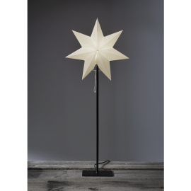 Papīra zvaigzne uz statīva balta E14 34x85cm Frozen 232-91