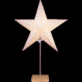 Papīra zvaigzne uz statīva balta E14 43x65cm Leo 233-05