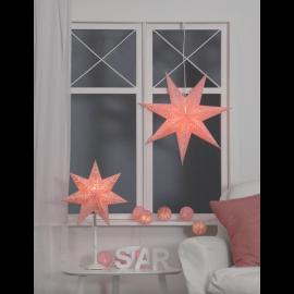 Papīra zvaigzne uz statīva roza E14 35x55cm Romantic 234-36