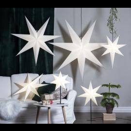 Papīra zvaigzne uz statīva balta E14 55x80cm Frozen 232-92