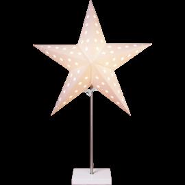 Papīra zvaigzne uz statīva balta E14 43x65cm Leo 233-06
