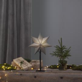 Papīra zvaigzne uz statīva melna E14 34x55cm Ozen 232-80
