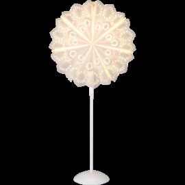 Lampas statīvs ar papīra zvaigzni balts 1xE14 35x75cm 234-81
