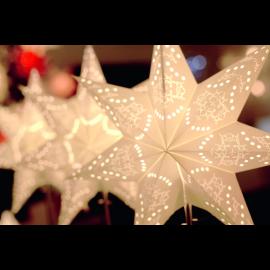 Papīra zvaigzne uz statīva balta E14 34x55cm Sensy 234-22